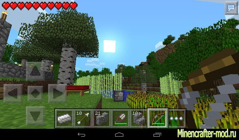 Скачать Minecraft Pocket Edition 0.9.1 на Андроид