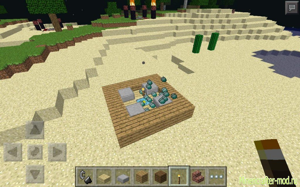 Скачать мод Diamond Summoner – генератор алмазов для Minecraft PE 0.8.1