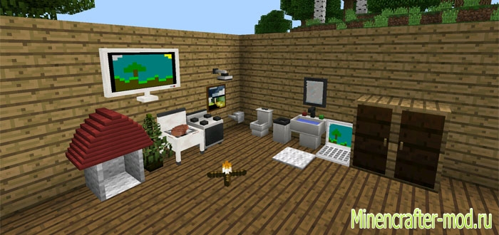Мод More Furniture Mod для Minecraft PE 0.14.0/0.14.1/0.14.2
